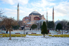 St. Sophia Cathedral Mosque, Hagia Sophia. Istanbul, Turkey. St. Sophia Cathedral Mosque, Hagia Sophia, day of January. Istanbul, Turkey Stock Photo