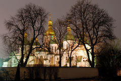 St.Sophia Cathedral at Night Royalty Free Stock Photography