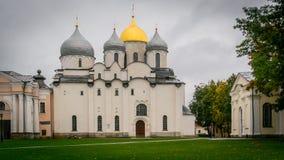 St Sophia Cathedral, Novgorod het Kremlin, Rusland royalty-vrije stock afbeeldingen