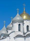 St. Sophia cathedral. In Novgorod Kremlin, Veliky Novgorod, Russia Stock Images