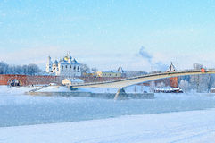 St Sophia Cathedral in Novgorod Kremlin in Veliky Novgorod, Russia, in winter sunny day Stock Photos
