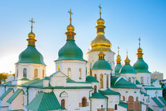 St. Sophia Cathedral at sunset. Fmaous St. Sophia Cathedral Kiev, Ukraine Royalty Free Stock Image