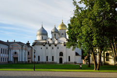 St Sophia cathedral in Veliky Novgorod, Russia at summer evening Royalty Free Stock Photos