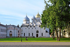 St Sophia cathedral in Veliky Novgorod, Russia at summer sunny day - architecture landscape Stock Photo