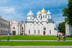 St Sophia cathedral in Veliky Novgorod, Russia at summer sunny day - architecture landscape of Veliky Novgorod landmark Stock Photo