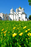 St. Sophia cathedral in Veliky Novgorod, Russia at summer sunny day Royalty Free Stock Photography