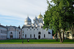 St Sophia cathedral in Veliky Novgorod, Russia at summer sunny day Royalty Free Stock Photos