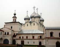 St. Sophia Cathedral in Vologda. Vologda, Russia. View of St. Sophia Cathedral from the Kremlin Royalty Free Stock Photo