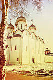 St. Sophia Cathetral in Vologda,Russia.Toned image. Stock Images