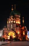 St. Sophia Church. Harbin construction art museum, St. Sophia Church at night Stock Images