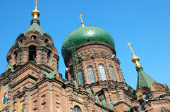 St. sophia church in harbin. Harbin construction art museum,St. Sophia Church royalty free stock photography
