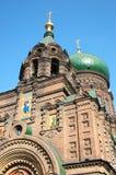 St. sophia church in harbin. Harbin construction art museum,St. Sophia Church royalty free stock images