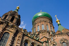 St. Sophia Church harbin. Harbin construction art museum,St. Sophia Church,Photo by Toneimage in China,a photographer living in Beijing Royalty Free Stock Images