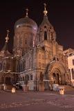 St sophia Church. Night view of St sophia Church,Harbin,Helongjiang,China Royalty Free Stock Photos
