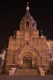 St sophia Church. Night view of St sophia Church,Harbin,Helongjiang,China Stock Photo