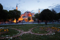 St. Sophia (Hagia Sophia) church, mosque and miseum in Istanbul Royalty Free Stock Photography