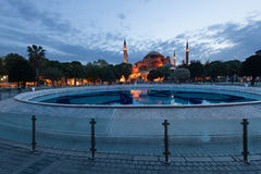 St. Sophia (Hagia Sophia) church, mosque and miseum in Istanbul. Turkey Royalty Free Stock Images