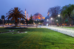 St. Sophia (Hagia Sophia) church. Mosque and miseum in Istanbul, Turkey Stock Photo