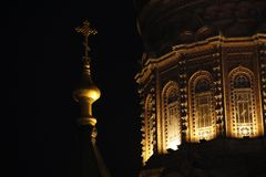 St.Sophia Harbin. Church orthodox at night Royalty Free Stock Photos