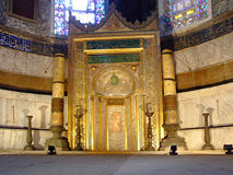 St Sophia Istanbul. The mihrab in St Sophia mosque in Istanbul Royalty Free Stock Image