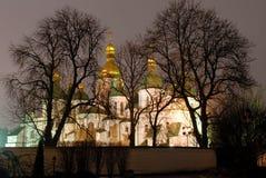 St.Sophia Kathedrale nachts Lizenzfreie Stockfotografie