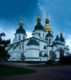 St. Sophia orthodox Cathedral. Kiev Ukraine. The symbol of the city, scanned film source stock images