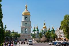St. Sophia square. In Kyiv, Ukraine Stock Images