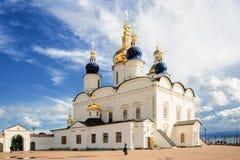 St sophia-Veronderstelling Kathedraal in Tobolsk het Kremlin Royalty-vrije Stock Foto's