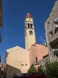 St Spiro教会在科孚岛希腊海岛上的科孚岛镇  库存照片