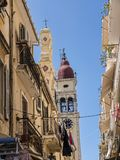 St Spiro Church in Corfu town on the Island of Corfu. The city of Corfu stands on the broad part of a peninsula, whose termination in the Venetian citadel is cut Royalty Free Stock Photography