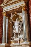 St-Stanislas statue at Saint-Etienne Basilica stock photography