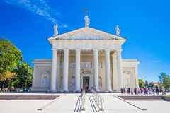 St Stanislaus和St弗拉迪斯拉夫大教堂大教堂在夏天晴天 图库摄影