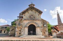 St Stanislaus教会, Altos de Chavon,拉罗马纳,多米尼加共和国关于 免版税库存照片