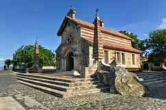 St Stanislaus教会, Altos de Chavon,拉罗马纳,多米尼加共和国关于 免版税库存图片