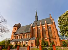 St Stanislaus教会(1521)在Swiecie镇,波兰 免版税库存照片