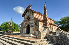 St Stanislaus Church, Altos de Chavon, La Romana, dominicano con referencia a foto de archivo libre de regalías