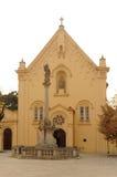 St. Stefan Capuchin Church in Bratislava. St. Stefan Capuchin Church (slovak: kostol svateho Stefana) on Zupne namestie in Bratislava, Slovakia Royalty Free Stock Photography