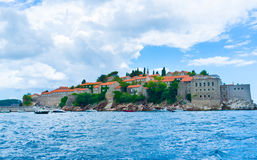 The St Stefan islet Royalty Free Stock Photos