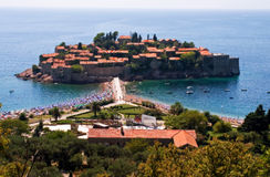 St. Stefan montenegro hotel Stock Foto's