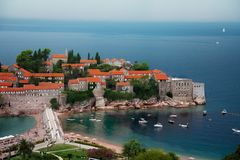 St Stefan peninsula in Montenegro Stock Image