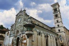 St. Stefano Cathedral in Prato, Italien stockfotos