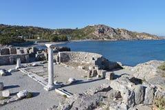 St. Stefanos basilica at Kos, Greece. Saint Stefanos ancient basilica and beach at Kos island in Greece Stock Photo