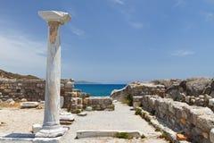 St. Stefanos basilica at Kos, Greece. Saint Stefanos ancient basilica and beach at Kos island in Greece Royalty Free Stock Photo