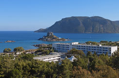 St. Stefanos bay at Kos island in Greece Royalty Free Stock Image