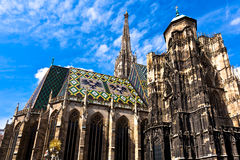 St. Stephan cathedral in center of Vienna Stock Photos