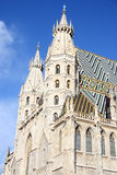 St. Stephan cathedral in center of Vienna stock images