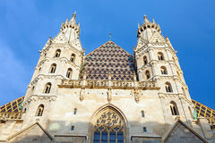 St. Stephan cathedral in center of Vienna Stock Image