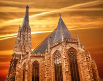 St. Stephan cathedral in Vienna. Austria Stock Images
