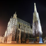St. Stephan cathedral in Vienna at night Stock Photography