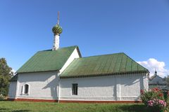 St. Stephan Church in Kideksha. The Golden ring of Russia. St. Stephan Church in Kideksha Stock Photo
